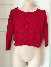 Women Warehouse Red Cardigan, Size 12