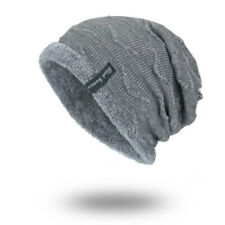 Winter Beanies Slouchy Chunky Hat for Men Women Warm Soft Skull Knitting Caps///