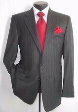 Hickey Freeman Loro Piana Gray Stripe 2 Buttons Wool Suit 40-R Pant W 38 X 29.5""