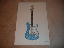 Original Electric Guitar TEKST Art Signed and Numbered Print 11/40