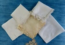More details for six antique handkerchiefs with embroidery & lace