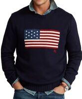 Polo Ralph Lauren Men's American Flag Cotton Sweater - Size XL