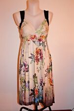 ANA ALCAZAR femme ROBE beige fleurs fleurie fluide chic multicolore 34-36-XS-S T
