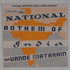 NATIONAL ANTHEM OF INDIA: Vande Mataram Rare HMV 45 w/ PS Super