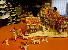 1981 Stratford House Hand Made By David Winter Cottage W Glass Cows Fig Uk W Box