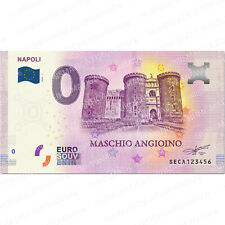 0 € ZERO EURO SOUVENIR BANCONOTA TURISTICA ITALIA 2020 - NAPOLI MASCHIO ANGIOINO