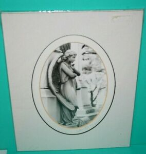 Wm. Meyer Photography Images of Angels Black & White Print w Double Mat Signed