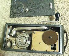 Vintage Portable Swiss Thorens Excelda Windup Gramophone 78 rpm record player