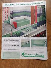 1960 American-Standard Ad Bathroom Theme 1960 Sylvania TV Television Ad