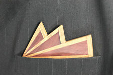 Exotic Wooden Bow Tie Pocket Square Purple Heart and Oak Woods