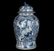 China 20. Jh. Große Deckelvase -A Chinese Blue & White Baluster Jar / Vase Chine