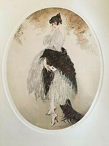 LOUIS ICART -LA LETTRE-  1928 PRINT