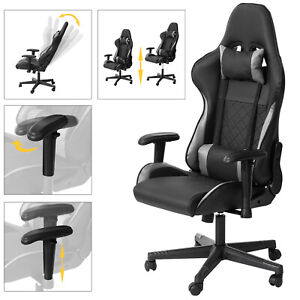 SoBuy Armrest Chair Ergonomic Computer Chair with Adjustable Height,FST82-SCH,UK