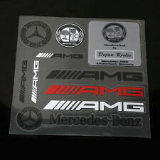 10 Pcs AMG Universal Decal Sports Sticker Emblem Badge Logo For MERCEDES S157
