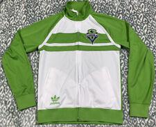 Adidas Seattle Sounders FC MLS Full Zip Track Jacket Men's SZ S Green & White