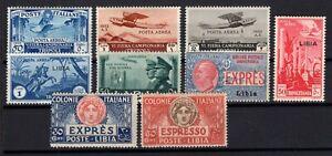 P134815/ ITALIAN LYBIA / LOT 1928 – 1941 MINT MNH CV 260 $