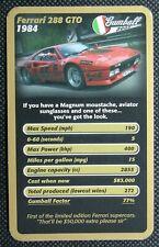 1 x single swap Top Trumps card car Ferrari 288 GTO SC2