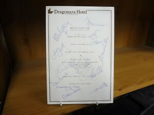 English Cricket Team 1980 Dinner Menu Signed By All 12 England