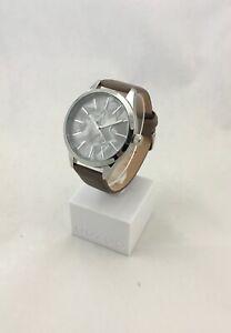 Oozoo Uhr Armbanduhr Designuhr dark taupe/ silber/ silver ca. 45 mm C10073