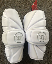 Warrior Evo Pro Arm Guards Lacrosse Lax Medium White New with Tags