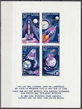 Dahomey 1970 ** Bl.17 Epreuve de Luxe Proof Cardboard Weltraum Space Espace