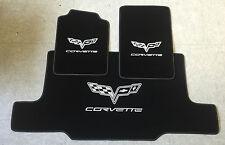 Autoteppich Fußmatten Kofferraum Set für Corvette C6 Cabrio silber Nubuk Neuware