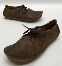 Clarks Artison Womens Brown/Purple Leather Chukka Low Casual Shoes Size 9M