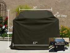 Outdoor BBQ Grill Cover,Fit Broil-Mate 5-Burner Propane Gas Grill Cart,Black,67""
