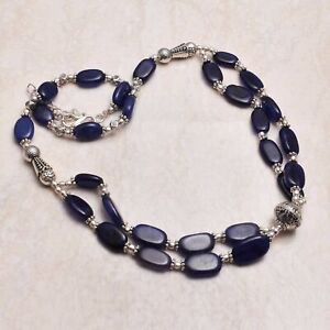 Sapphire Ethnic Handmade Necklace Jewelry 34 Gms AN 69594
