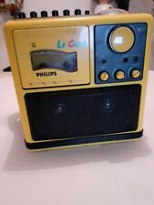 LARGE PHILIPS LE CUBE BOOMBOX RADIO AND CASSETTE PLAYER RECORDER MODEL 8080/02