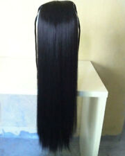 Natural Synthetic Wig Straight  Black 30 inches Long Hair Party Wigs For Women
