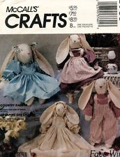 1980's VTG McCall's Stuffed Bunny and Clothes Pattern 893 UNCUT