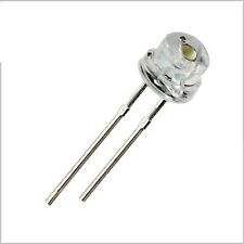 100pcs F5 5mm WHITE Straw Hat Superbright LED Light LED lamp NEW L8