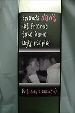 "Condom Vending Machine - Stainless Steel- New In Box - "" Friends / Ugly people"""