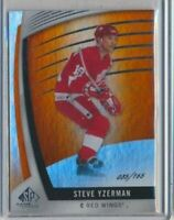 2017-18 Upper Deck SP Game Used 80 Steve Yzerman /165 Detroit Red Wings