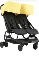 Mountain Buggy Nano Duo Double Stroller In Cyber (Yellow Canopy)