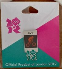 London 2012 Olympic Lapel Pin Badge ~ Pictogram ~ BMX ~ Cycling ~ Gamesmark Logo