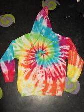 CUSTOM make your own handmade Rainbow Tie Dye Hippy Hoody UNISEX S-5XL festival