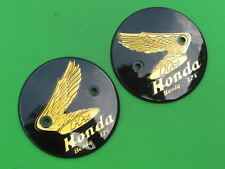 Honda Benly 125cc C92 C95 CA92 CA95 CB92 CS92 L/R Tank Badges Emblem Gold NEW