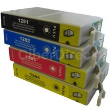 4 CiberDirect T1281 T1282 T1283 T1284 Ink Cartridges to fit Epson Printers