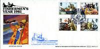 23 SEPTEMBER 1981 FISHING BENHAM BOCS (2) 5 FIRST DAY COVER ABERDEEN SHS
