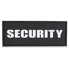 3D PVC Rubber Security Guard Cap Tactical Hat Shirt ID Patch Badge Black NEW