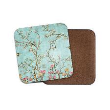 Oriental Style Nightingale Design Coaster - Cute Bird Floral Blossom Gift #16318