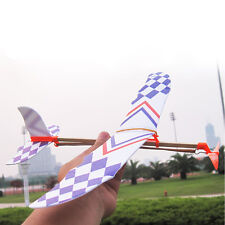 Foam Rubber Band Elastic Powered Glider Flying Plane Aircraft Model Kid Toy Gift