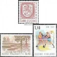 Finnland 876A y,877,878 (kompl.Ausg.) postfrisch 1981 Wappen, Nationalpark, Boxe