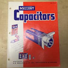 Vtg Mallory Catalog ~ Capacitors 1958