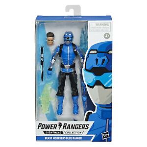 "POWER RANGERS LIGHTNING COLLECTION BEAST MORPHERS BLUE RANGER 6"" ACTION FIGURE"