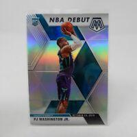 2019-20 Panini Mosaic PJ Washington Jr. NBA Debut Silver Prizm Rookie RC Hornets