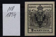 2kr, schwarz, NEUDRUCK 1894! Mit Gummi und min.Falzspur. Uwe STEINER Signum!
