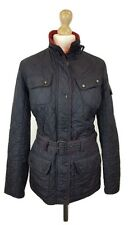 #460 Barbour International Ladies Black New Flyweight Quilted Jacket, UK 10